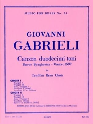 Canzon Duodecimi Toni - GABRIELI - Partition - laflutedepan.com