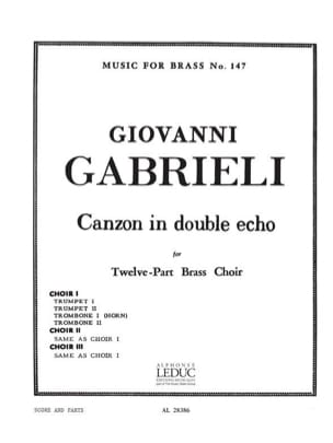 Canzon In Double Echo Giovanni Gabrieli Partition laflutedepan