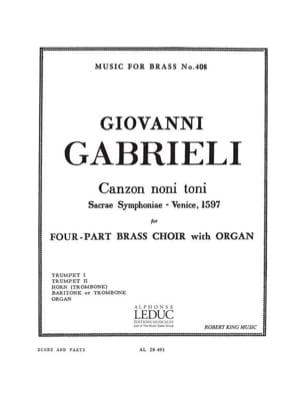 Canzon Noni Toni Giovanni Gabrieli Partition laflutedepan