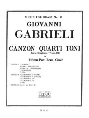 Giovanni Gabrieli - Canzon quarti toni - Sacrae symphoniae, Venise 1597 - Partition - di-arezzo.fr