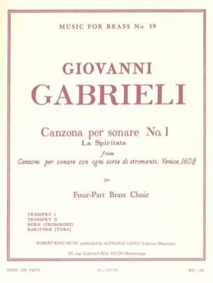 Canzona Per Sonare N° 1 - La spiritata Giovanni Gabrieli laflutedepan