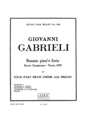 Sonata Pian'e Forte - Giovanni Gabrieli - Partition - laflutedepan.com