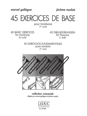 45 Exercices de Base Galiègue M. / Naulais J. Partition laflutedepan