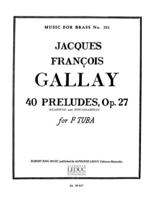 Jacques-François Gallay - 40 Preludes Opus 27 - Partition - di-arezzo.fr