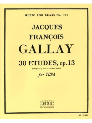 Jacques-François Gallay - 30 Studies Opus 13 - Sheet Music - di-arezzo.co.uk