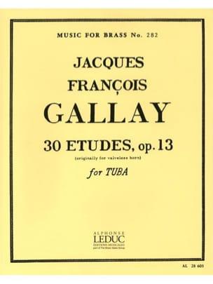 Jacques-François Gallay - 30 Studies Opus 13 - Partition - di-arezzo.fr