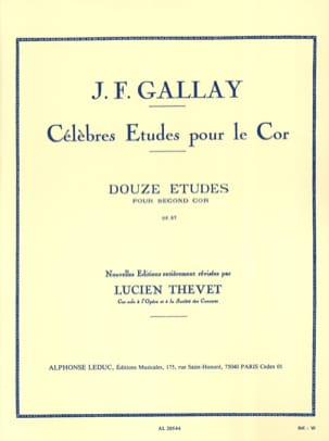 Jacques-François Gallay - 12 Etudes Pour Second Cor Opus 57 - Partition - di-arezzo.fr
