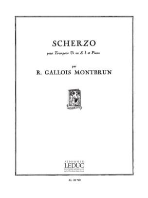 Montbrun Raymond Gallois - Scherzo - Partition - di-arezzo.fr