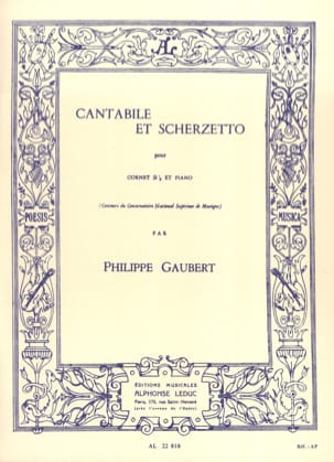 Cantabile et Scherzetto Philippe Gaubert Partition laflutedepan