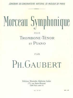 Philippe Gaubert - Symphonic piece - Sheet Music - di-arezzo.co.uk
