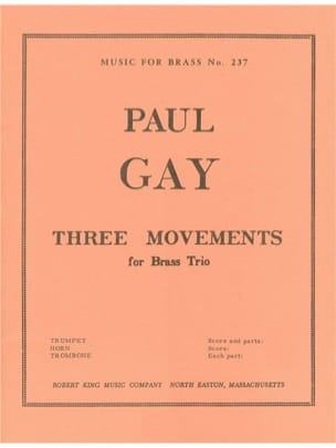 Paul Gay - 3 Mouvements - Partition - di-arezzo.fr