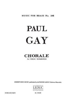 Chorale - Paul Gay - Partition - Trombone - laflutedepan.com