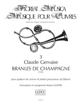 Claude Gervaise - Bransles of Champagne - Sheet Music - di-arezzo.com