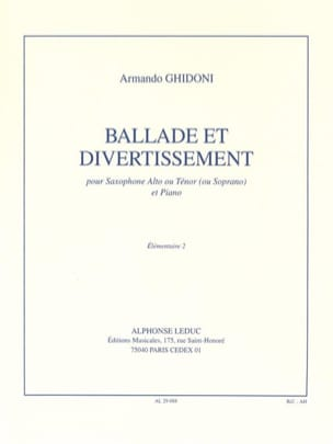 Armando Ghidoni - Ballade et Divertissement - Partition - di-arezzo.fr