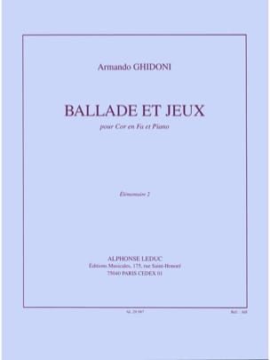 Armando Ghidoni - Ballad and games - Sheet Music - di-arezzo.com