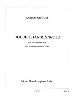 Douce Chansonnette Armando Ghidoni Partition Saxophone - laflutedepan