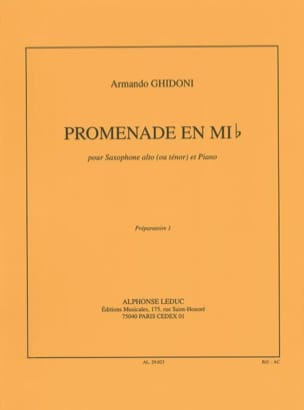 Promenade En Mib Armando Ghidoni Partition Saxophone - laflutedepan