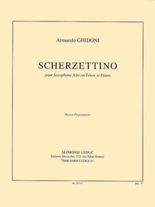 Scherzettino Armando Ghidoni Partition Saxophone - laflutedepan