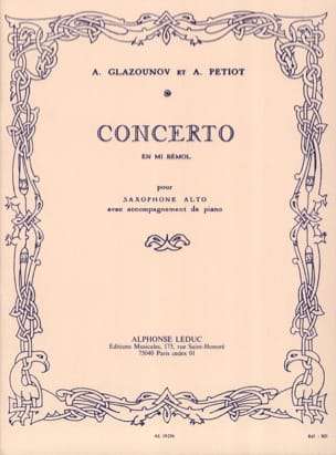 Alexander Glazounov - Concerto In E Flat - Sheet Music - di-arezzo.co.uk