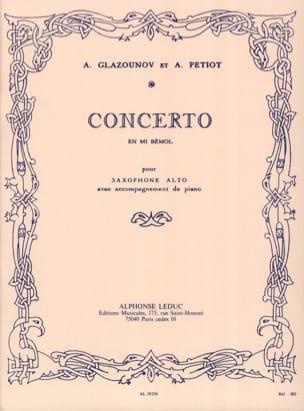 Alexander Glazounov - Concerto En Mi Bémol - Partition - di-arezzo.fr