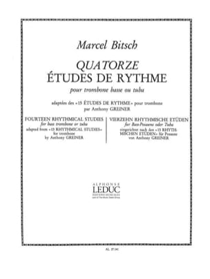 Bitsch / Greiner - 14 Rhythm Studies - Sheet Music - di-arezzo.co.uk