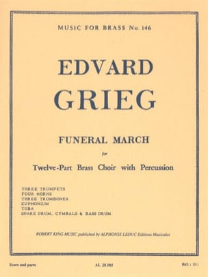 Funeral March GRIEG Partition Ensemble de cuivres - laflutedepan