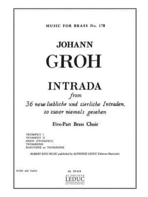 Intrada - Johann Groh - Partition - laflutedepan.com