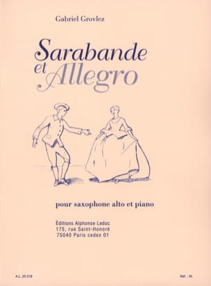 Grovlez - Sarabande and Allegro - Sheet Music - di-arezzo.com