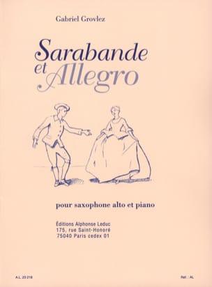 Grovlez - Sarabande y Allegro - Partitura - di-arezzo.es