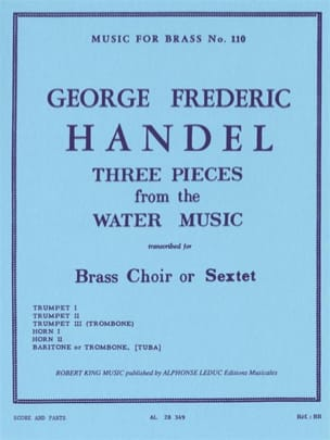 HAENDEL - 3 Pieces From Water Music - Partition - di-arezzo.fr