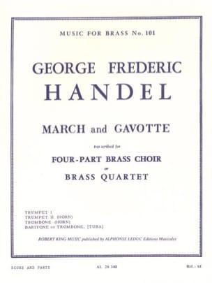 March and gavotte HAENDEL Partition Ensemble de cuivres - laflutedepan