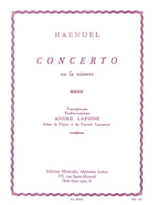 HAENDEL - Concerto In F Minor - Partitura - di-arezzo.es