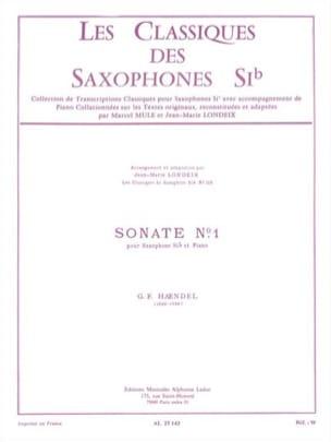 Sonate n° 1 HAENDEL Partition Saxophone - laflutedepan