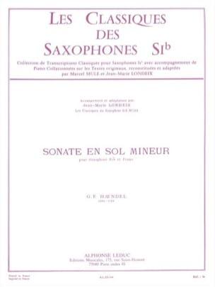 Sonate en sol mineur HAENDEL Partition Saxophone - laflutedepan