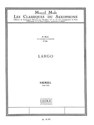 Georg Friedrich Haendel - Largo - Partition - di-arezzo.fr