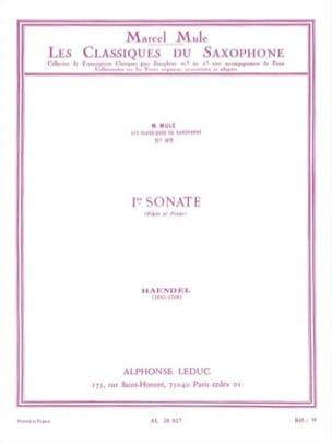 HAENDEL - Ier Sonate - Partition - di-arezzo.fr