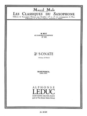 2ème sonate HAENDEL Partition Saxophone - laflutedepan