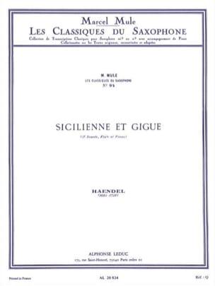 Sicilienne et gigue HAENDEL Partition Saxophone - laflutedepan
