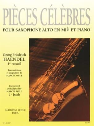 Pièces Célèbres Volume 1 HAENDEL Partition Saxophone - laflutedepan