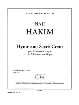 Naji Hakim - Hymne au Sacré-Coeur - Partition - di-arezzo.fr