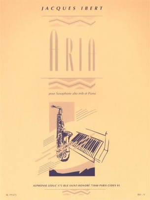 Jacques Ibert - Aria - Sheet Music - di-arezzo.co.uk