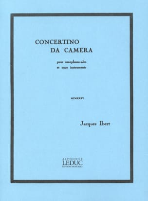 Jacques Ibert - Concertino Da Camera - Partition - di-arezzo.ch