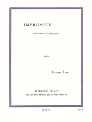 Jacques Ibert - Impromptu - Partition - di-arezzo.fr
