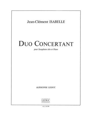 Duo Concertant - Isabelle - Partition - Saxophone - laflutedepan.com