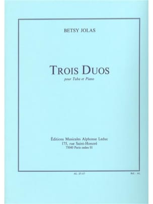 Betsy Jolas - 3 Duos - Partition - di-arezzo.fr