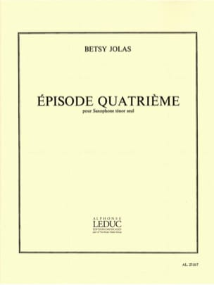 Betsy Jolas - 4th episode - Sheet Music - di-arezzo.co.uk
