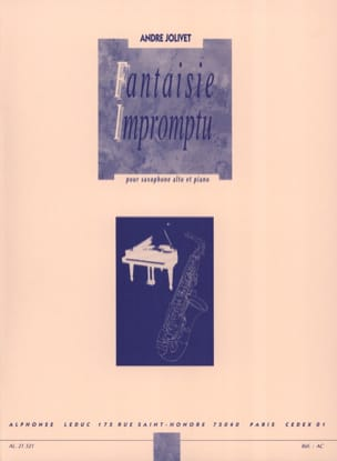 André Jolivet - Fantasía Impromptu - Partitura - di-arezzo.es