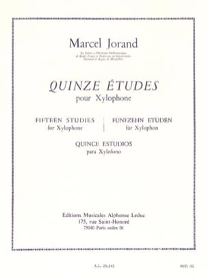 Marcel Jorand - 15 Studies - Sheet Music - di-arezzo.co.uk