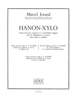 Hanon-Xylo Jorand Partition Xylophone - laflutedepan
