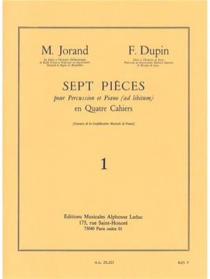 7 Pièces Volume 1 Jorand M. / Dupin F. Partition laflutedepan